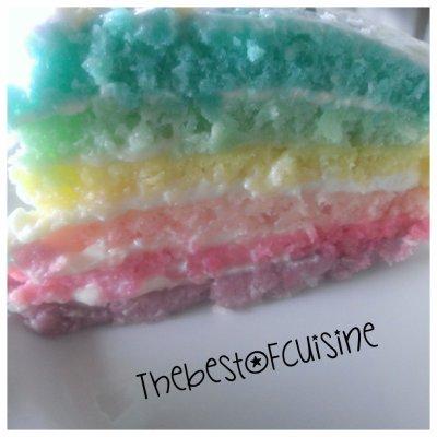 Mon Rainbow Cake !!