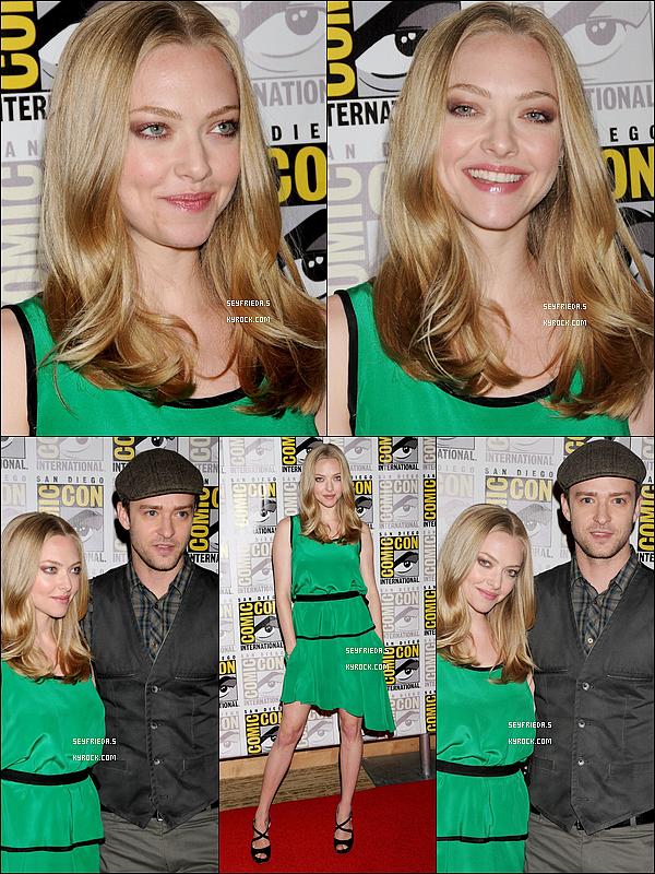 21/07/11 : Hier, Amanda et Justin Timberlake sa co-star dans « In Time », étaient à un Comic Con organisé à San Diego pour présenter leur film. La bande d'annonce y a été diffusée.