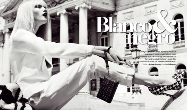 Blanco & Negro - Marie Claire Spain September 2011 by David Roemer