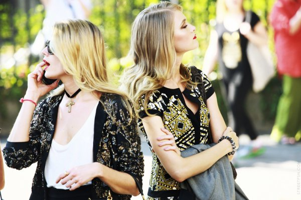 Outside Dior with Maryna Linchuk
