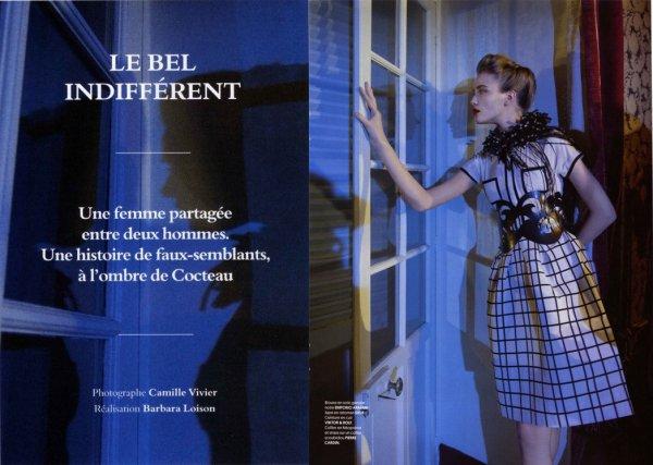 Le Bel Indifférent - Obsession April 2012 (Supplément du Nouvel Obs) by Camille Vivier