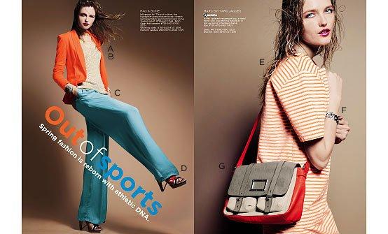Saks Fifth Avenue Women's Contemporary Spring 2012 catalog (désolée pour la qualité)
