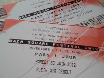 Tickets pour Arras !!
