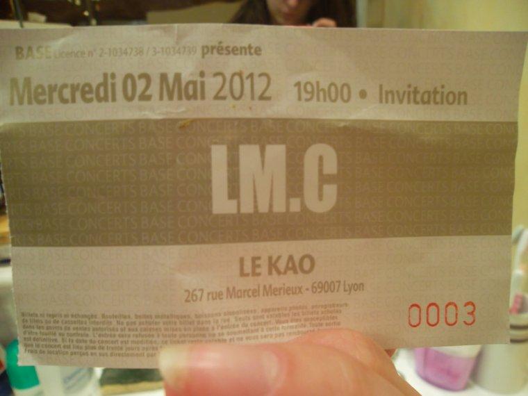 Le concert de LM.C à Lyon (part.4) !!! 20.05.12 ♥