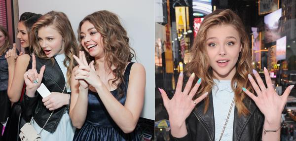 """07/02/13 : Notre jolie Chloë a fêté son seizième anniversaire avec plusieurs jeunes acteurs notamment Sarah Hyland, Holland Roden, mais aussi Julianne Moore sa co-star dans """"Carrie"""". L'évenèment était en partenariat avec Teen Vogue et Aeropostale."""