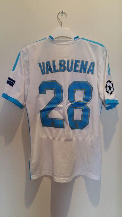 Maillot porté en ligues des champions contre arsenal le 18/09/2013 par Mathieu valbuena.