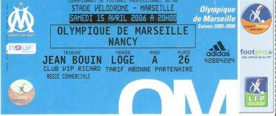 OLYMPIQUE MARSEILLE - AS NANCY