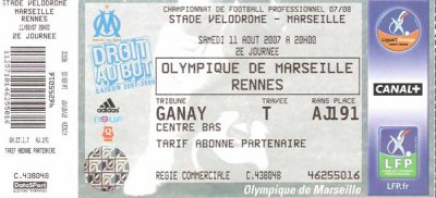 OLYMPIQUE MARSEILLE - STADE RENNAIS