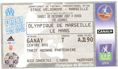 OLYMPIQUE MARSEILLE - LE MANS UC