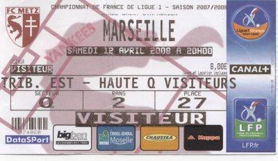 FC METZ - OLYMPIQUE MARSEILLE