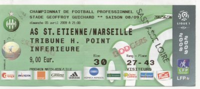 AS SAINT-ETIENNE - OLYMPIQUE MARSEILLE