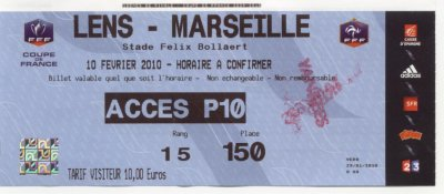 RC LENS - OLYMPIQUE MARSEILLE