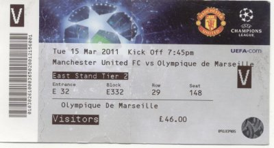 MANCHESTER UNITED - OLYMPIQUE MARSEILLE