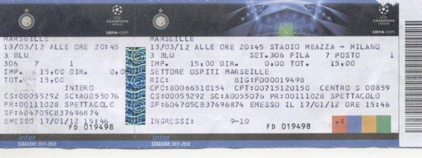 FC INTERNAZIONALE MILAN - OLYMPIQUE MARSEILLE