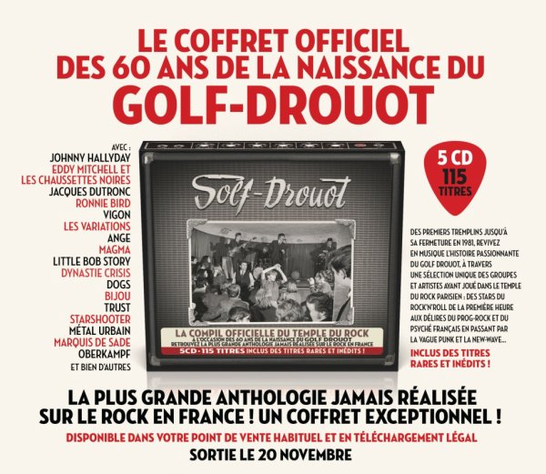 Coffret du Golf Drouot & Livre (60 ans Rock And Roll)