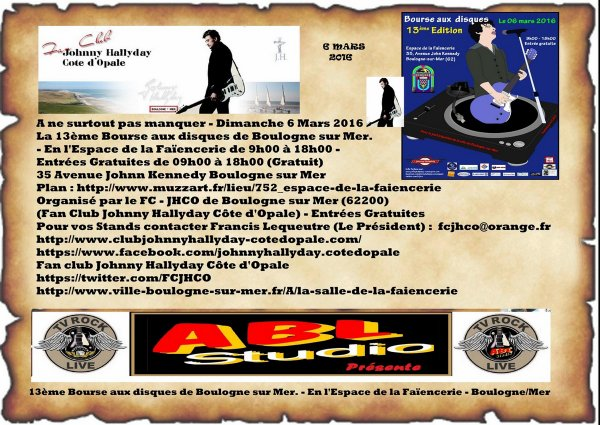 13ème bourse aux disque par le Fan Club Johnny Hallyday & homage a Josette Sureau & Présence du Limited Access Club Johnny