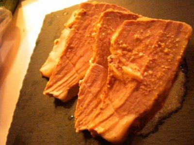 Roti de porc à la moutarde