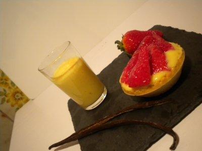 tartelettes aux fraises, crème patissère vanillée