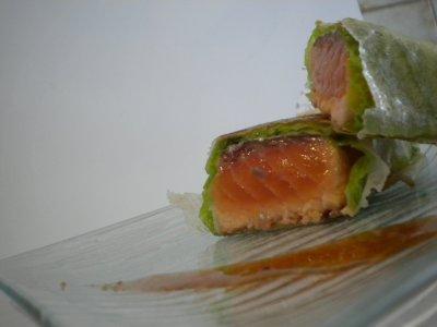 Pavés de saumon en feuille de brick