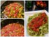 Tagliatelle sauce tomate cerise, courgette