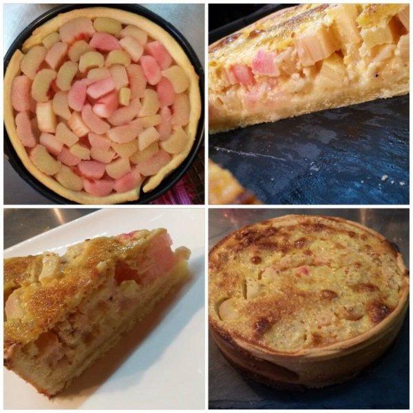 Petite tarte à la rhubarbe
