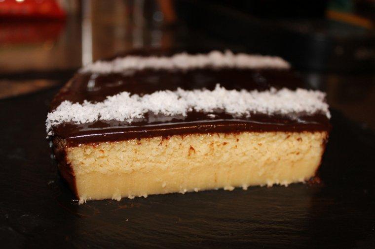 Gâteau sans farine à la noix de coco et chocolat