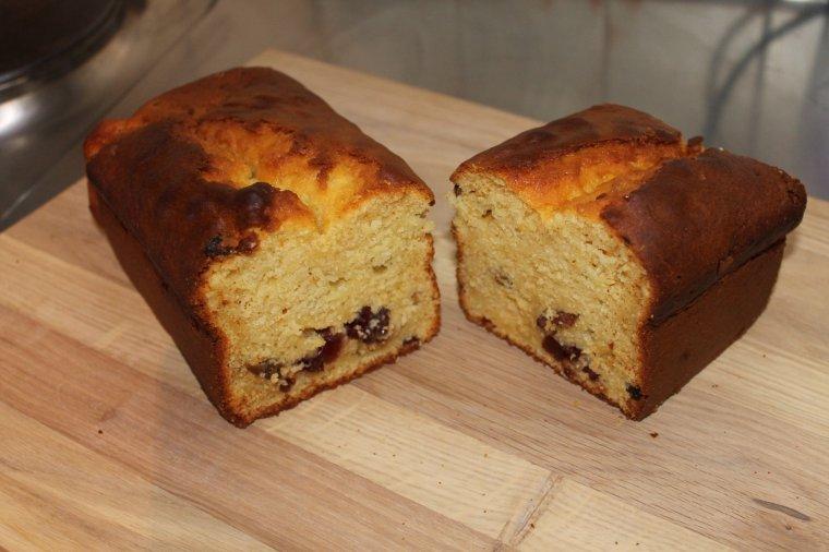 Cake au séré et raisins secs