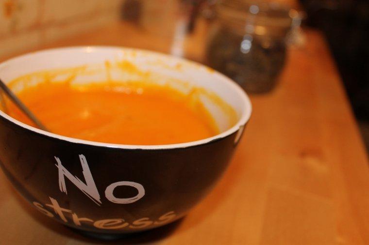 Soupe potimarron, carotte et patate douce