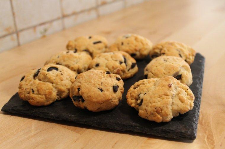 Cookies salé olive parmesan noix