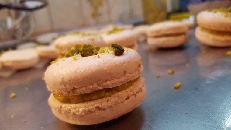 Macarons pistache passion