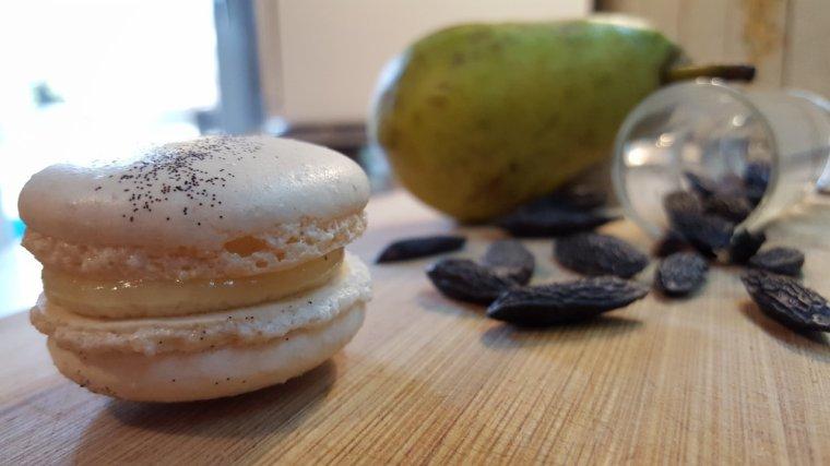 Macarons Poire-Tonka