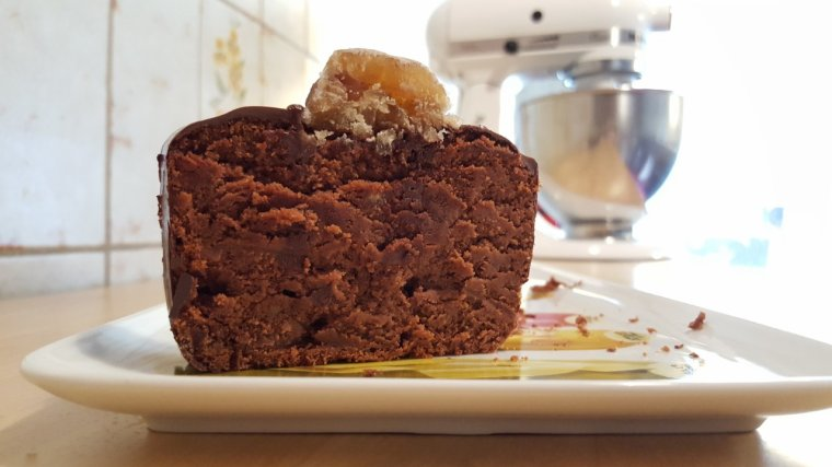 Cake sans farine aux marrons et chocolat
