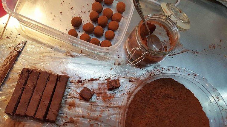 Truffes aux chocolat et aux épices