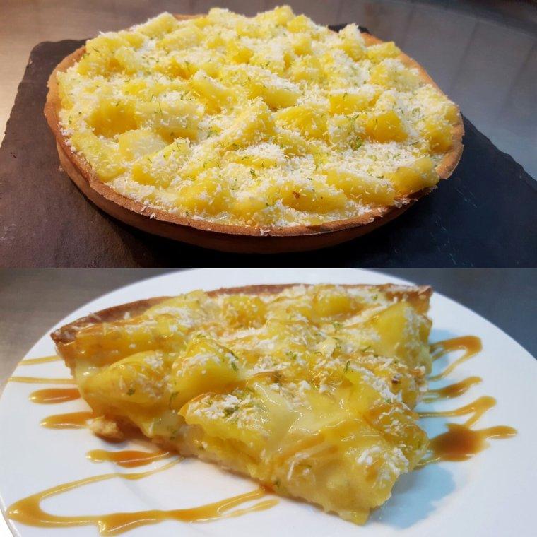 Tarte à l'ananas, crémeux citron