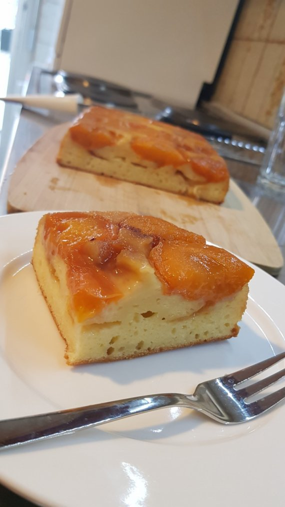 Gâteau aux abricots façon tatin