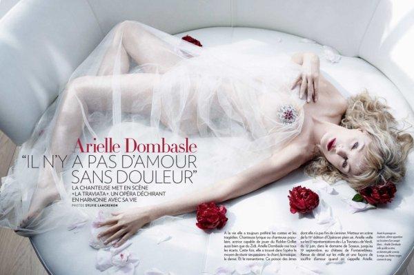"""Arielle Dombasle """"Il n'y a pas d'amour sans douleur"""" © Paris Match, Sylvie Lancrenon"""