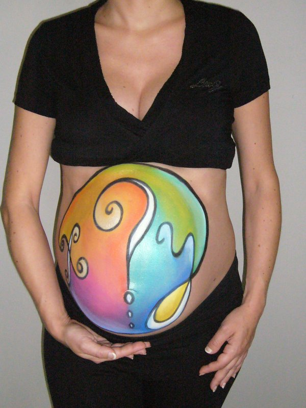 Mon Belly Painting realise par C&C maquillage
