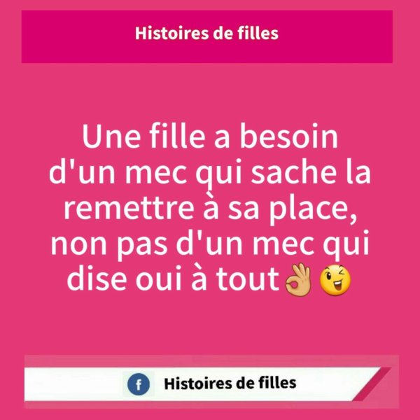 Une fille a besoin