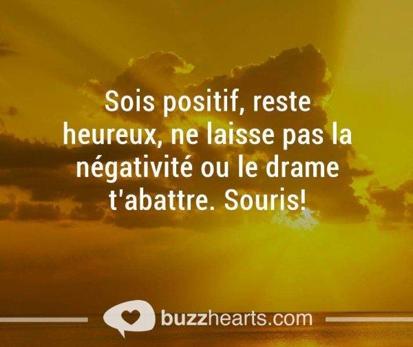 Sois positifs