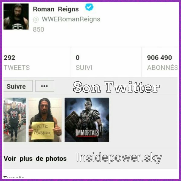 Insidepower ta source consacré à Roman reigns