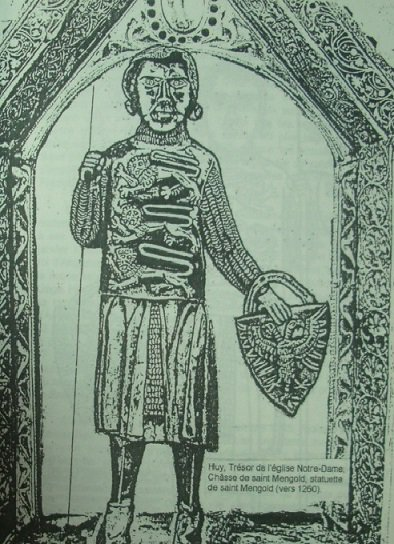 Détail de la châsse de st Mengold