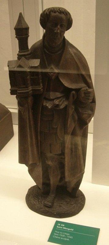 Statue de st Mengold en bois