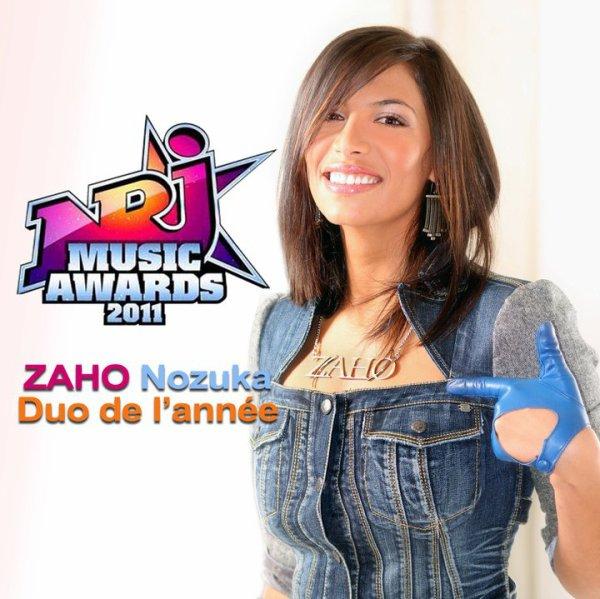 """ZAHO & Justin Nozuka gagnent le Awards du """"Duo francophone de l'année"""" ! (Zaho n'était pas à Cannes)"""