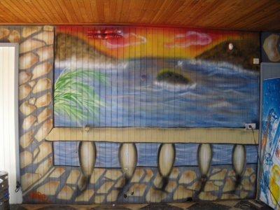et enfin une ptite peinture pour une salle des fetes!