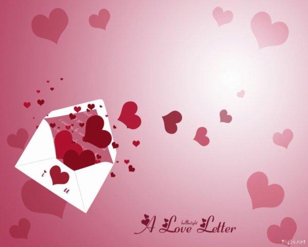 lettre de la saint valentin