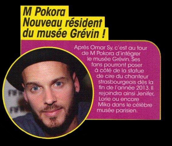 NEWS DE STARS : M Pokora au musée Grévin !!!