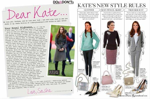 Le look anglais à la KATE MIDDLETON