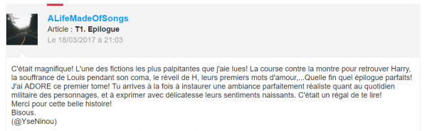 Vos commentaires incroyables ♥