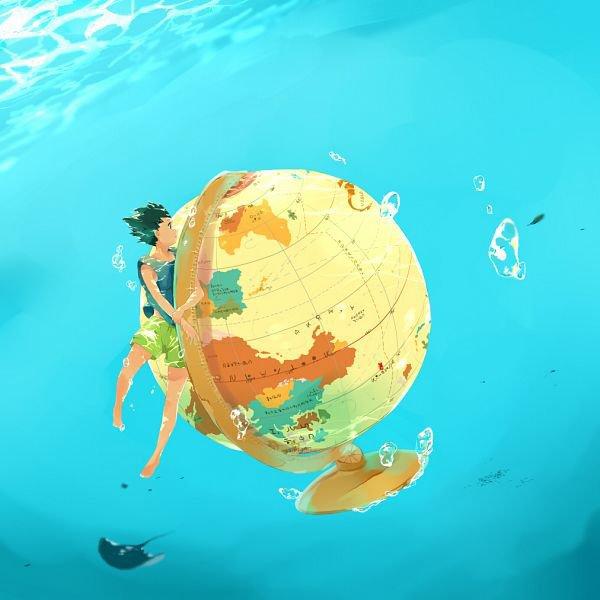 地球儀とゴン