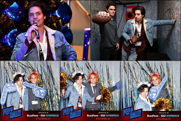 * 11/03/2017 : Cole était présent au SXSW Festival en compagnie de son co-star KJ Apa, au Texas. *